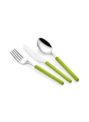 Rivadossi Rivadossi Sylt Yeşil 24 Parça Çatal Bıçak Seti Renkli